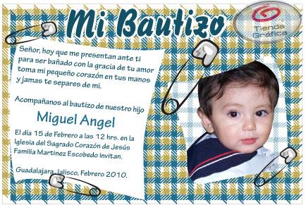 Invitaciones para bautizo y primer año - Imagui